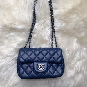 100% Authentic CHANEL Lambskin Quilted Extra Mini